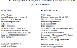 Как правильно писать адрес в договоре