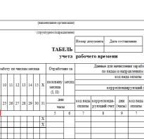 Пн в табеле учета рабочего времени