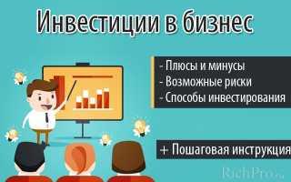 Вклад в развитие бизнеса