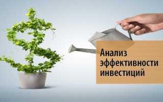 Анализ инвестиционной эффективности