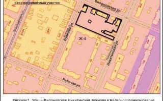 Карта правового зонирования города самары