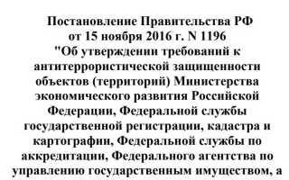 Постановление правительства 1196
