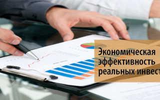 Оценка эффективности реальных инвестиций